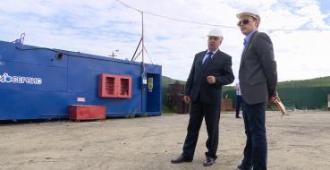 Мэр Магадана Юрий Гришан посетил предприятие «Биосервис»